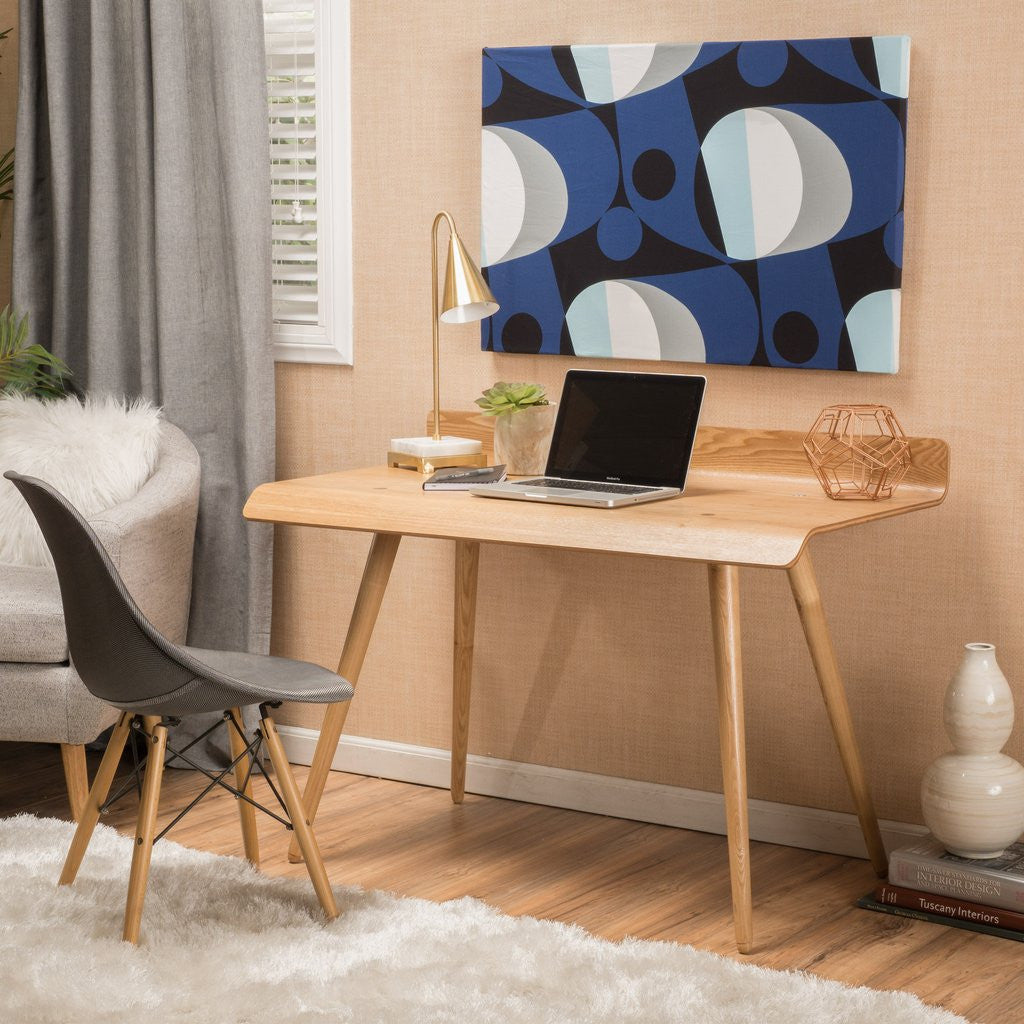 Franklin Contemporary Natural Tone Wood Computer Desk