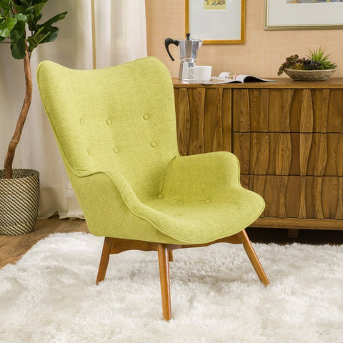 Barker Fabric Contour Chair in Many Color Options