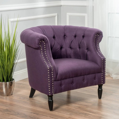 Amalfi Fabric Barrel Chair in Many Colors