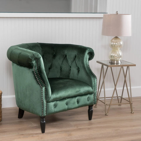 Amalfi Velvet Barrel Chair in Many Colors