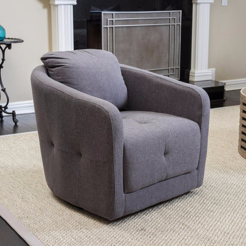 Canterbury Swivel Club Chair in Many Color Options