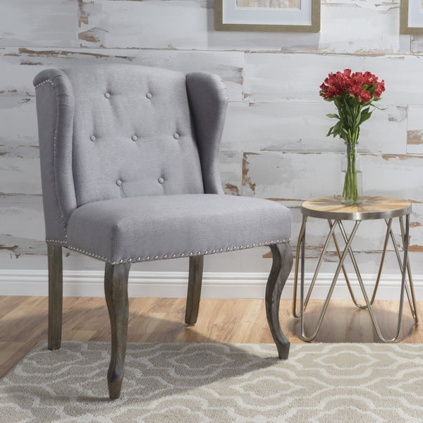 Adelle French Design Wingback Dining Chair in Many Color Options