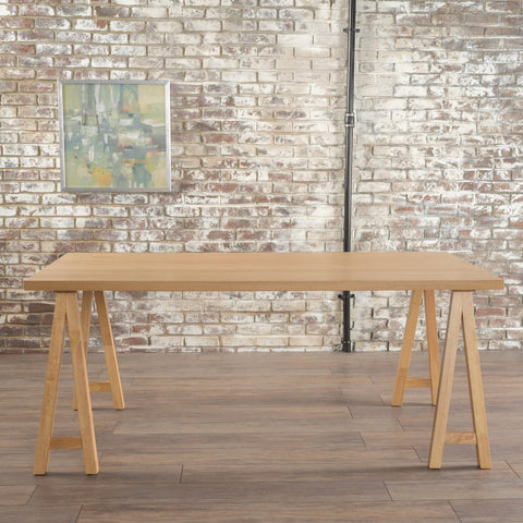 Farmhouse Wood Finish Dining Table Oak