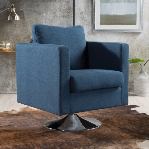 Caprice Fabric Swivel Club Chair in Many Colors