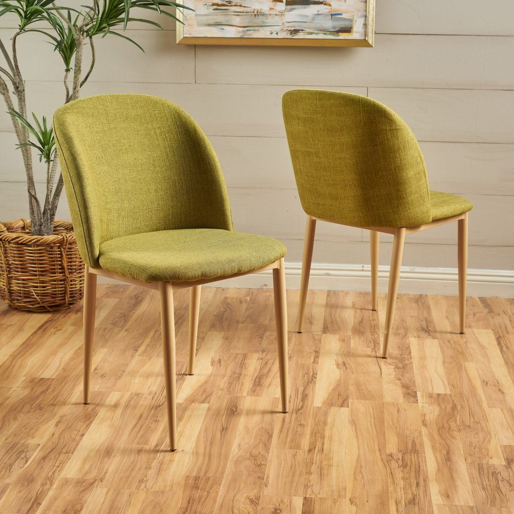 Miraculous Arcola Mid Century Modern Fabric Dining Chairs Set Of 2 Many Color Options Ibusinesslaw Wood Chair Design Ideas Ibusinesslaworg