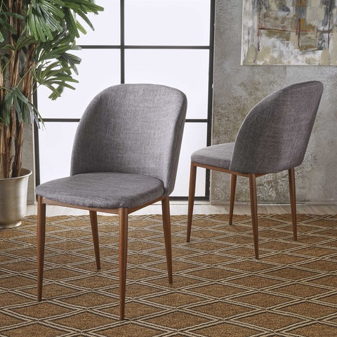 Arcola Mid century modern Fabric Dining Chairs (Set Of 2) Many color options
