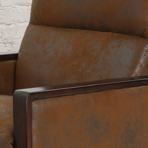 Traditional Microfiber Power Recliner in Slate or Brown
