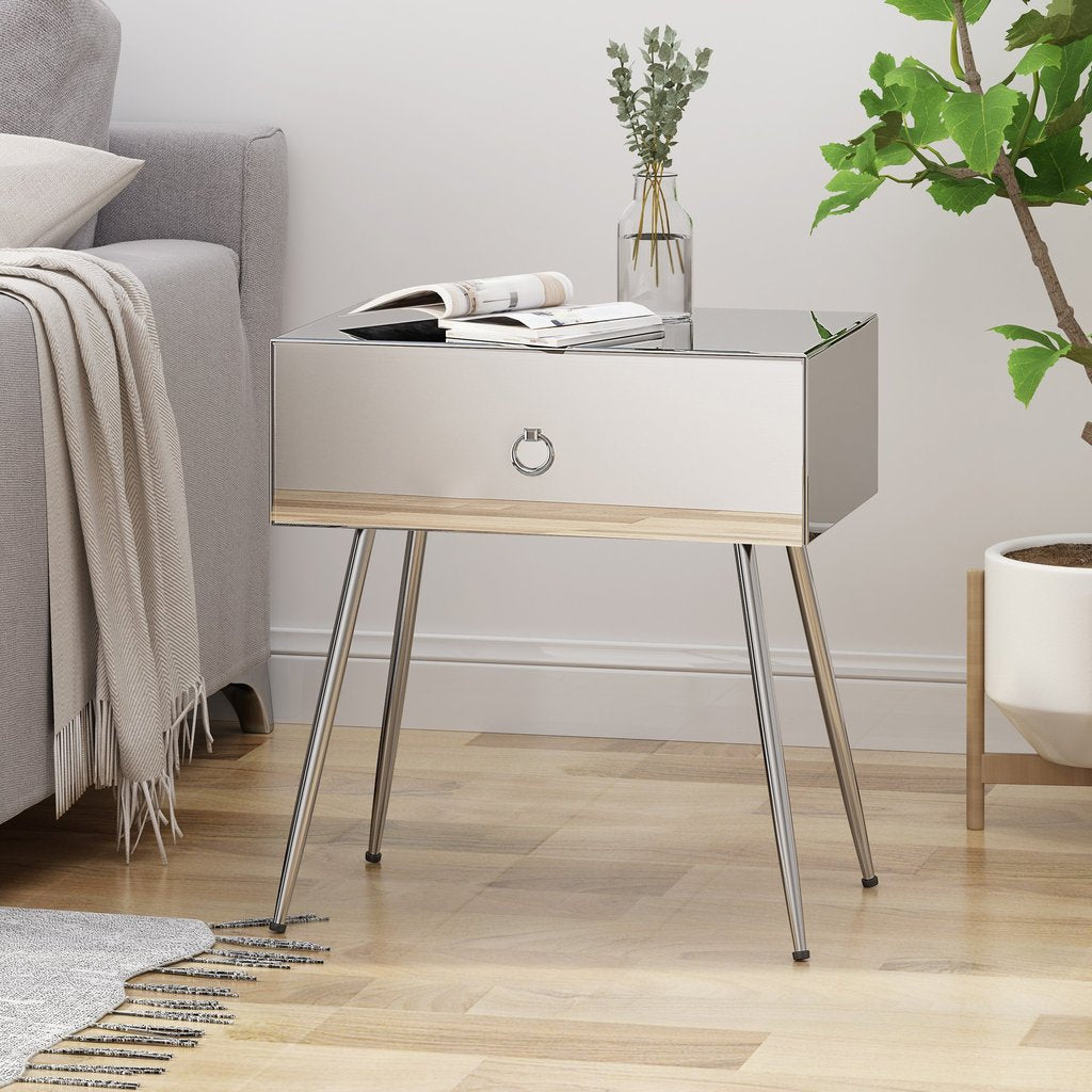 Modern Mirrored Accent Table