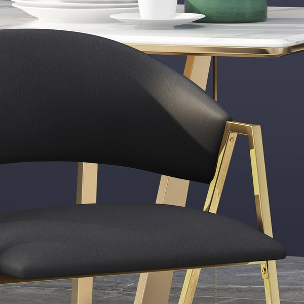 Modern Upholstered Dining Chair (Set Of 2)