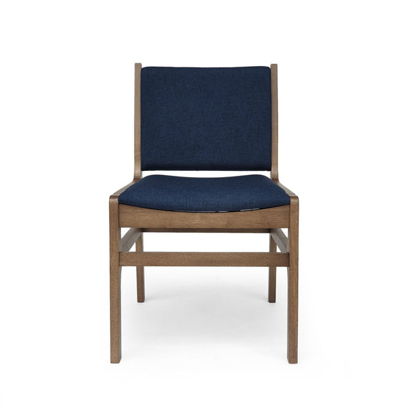 Mid-Century Danish Modern D-Scan Style Upholstered Dining Chair (Set Of 2) in Blue, Gray or Wheat