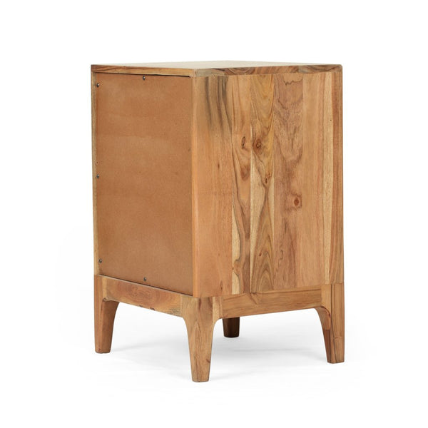 Modern Acacia Wood Side Table