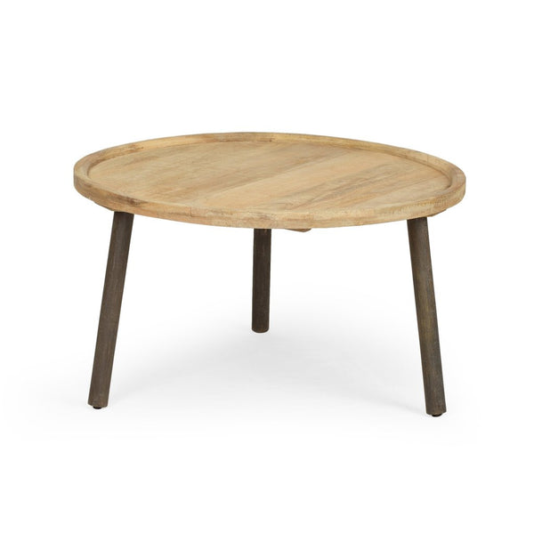 Round Mango Wood Coffee Table