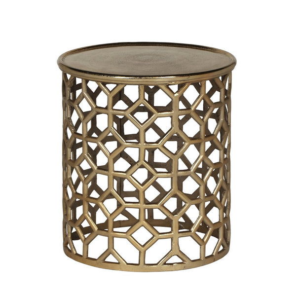 Modern Glam Aluminum Accent Table