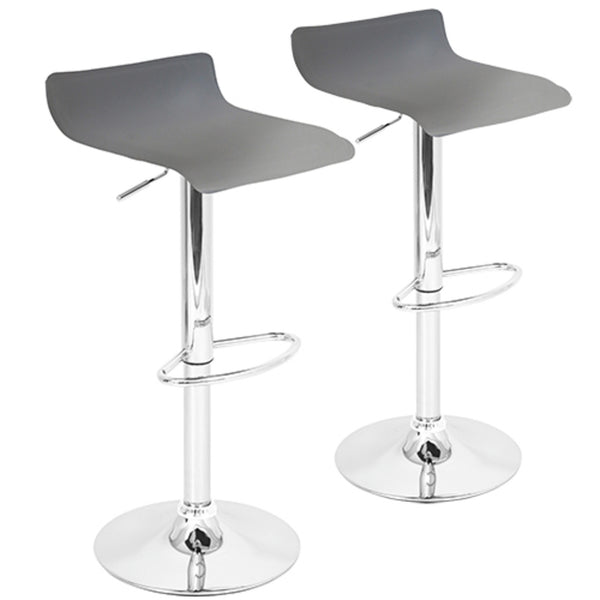 Ale Industrial Barstool in Antique Metal and  Faux Leather Set of 2 in MANY Color Options