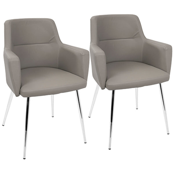 Andrew Contemporary Dining/Accent Chair in MANY COLOR COMBOS - Set of 2