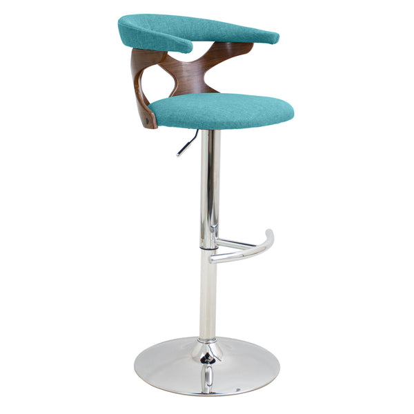 Gardenia Height Adjustable Counter to Barstool with Swivel Orange or Teal