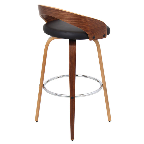 Grotto Barstool with Swivel Cherry/White or Walnut/Brown