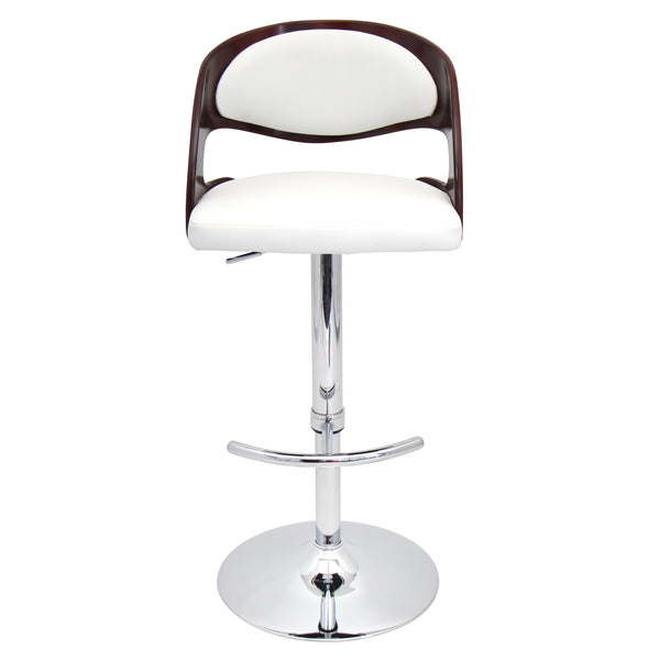 Pino Height Adjustable Counter to Barstool with Swivel. White or Brown