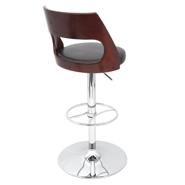Presta Height Adjustable Counter to Barstool with Swivel. Black or Brown