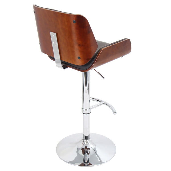 Santi Height Adjustable Counter to Barstool with Swivel. Brown or Cream