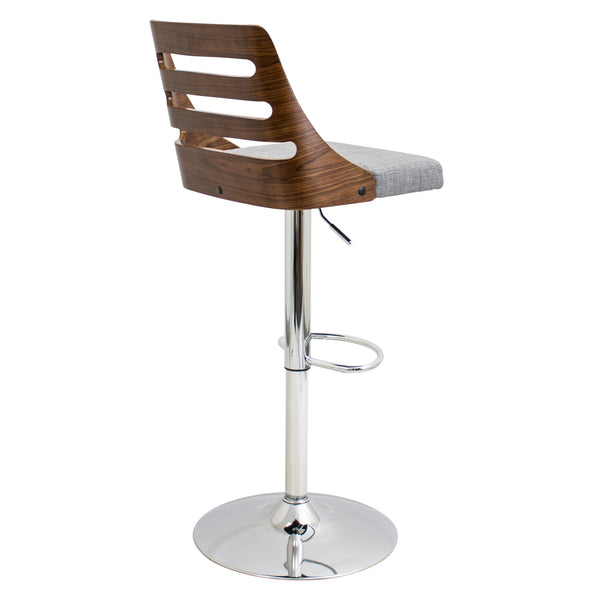 Trevi Height Adjustable Counter to Barstool with Swivel. Green or Grey