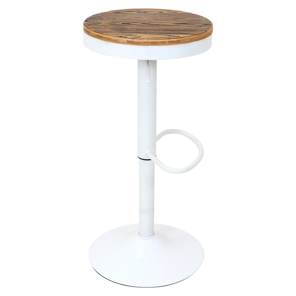 Dakota Adjustable Swivel Counter to Bar Stool Black or White