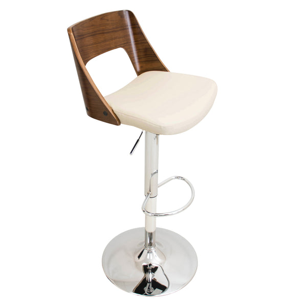 Valencia Height Adjustable Counter to Barstool with Swivel. Black or Cream