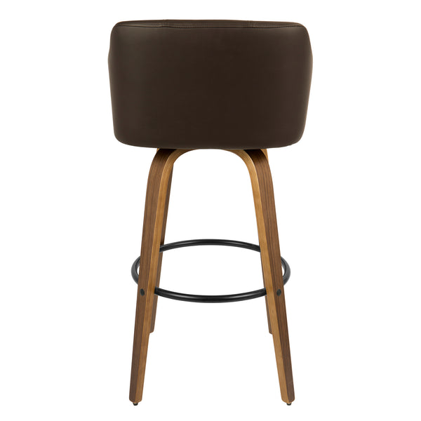 Bruno Bar Stool - Walnut/Brown