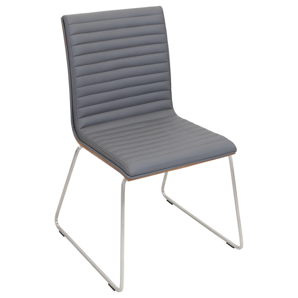 Mara Stackable Dining Chair Set of 2 in Grey or Off White