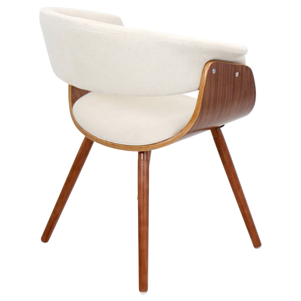 Vintage Mod Dining Chair in Cream or Espresso