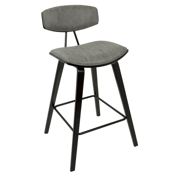 Damato Counter Stool in Green or Grey (Set of 2)
