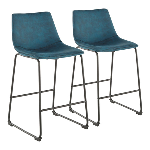 "Duke 26"" Industrial Counter Stool in MANY COLOR OPTIONS - Set of 2"