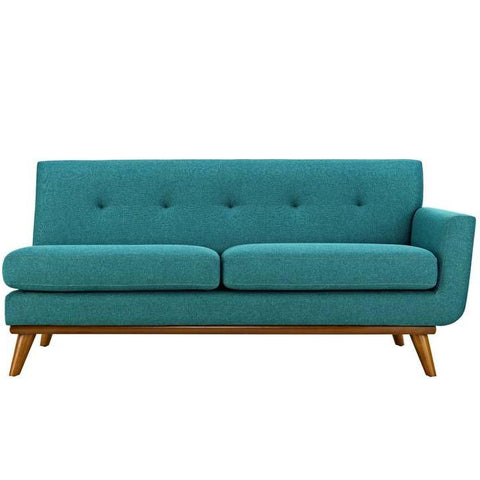 Engage Hughes Lyon Right Arm Loveseat Linen Like Fabric MANY COLORS