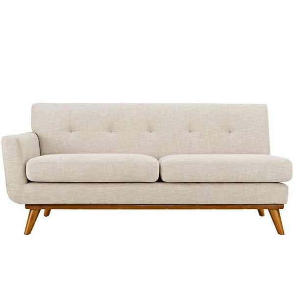 Engage Hughes Lyon Left Arm Loveseat Linen Like Fabric MANY COLORS