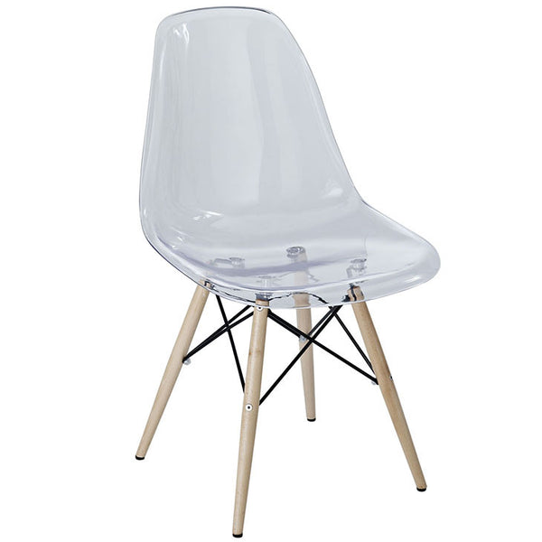 Plastic Molded Eiffel Side Chair Rod Base / Wood Base MANY OPTIONS