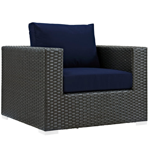 SOJOURN OUTDOOR PATIO FABRIC SUNBRELLA® ARMCHAIR IN CANVAS in MANY COLORS