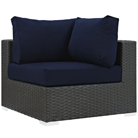 SOJOURN OUTDOOR PATIO FABRIC SUNBRELLA® CORNER CHAIR IN CANVAS in MANY COLORS