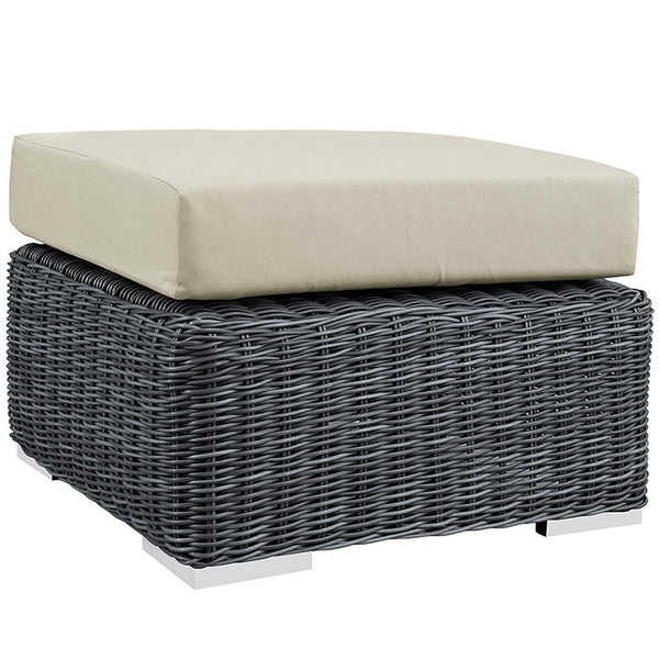 SUMMON OUTDOOR PATIO SUNBRELLA® OTTOMAN IN CANVAS in MANY COLORS