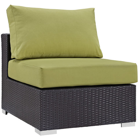 CONVENE OUTDOOR PATIO ARMLESS CHAIR in MANY COLORS