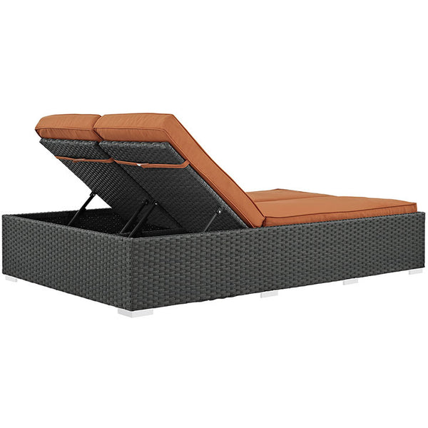 SOJOURN OUTDOOR PATIO SUNBRELLA® DOUBLE CHAISE in MANY COLORS