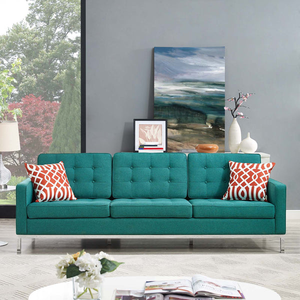 Florence Style Loft Fabric Sofa in MANY COLORS