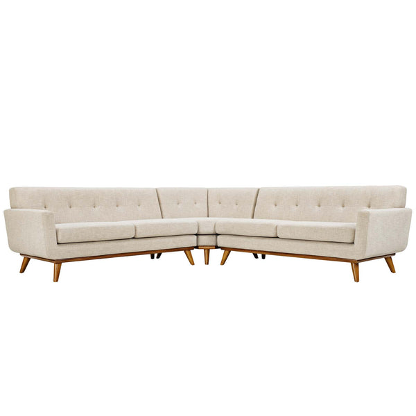 Engage Hughes Lyon Corner Sectional in Linen Like Fabric MANY COLORS