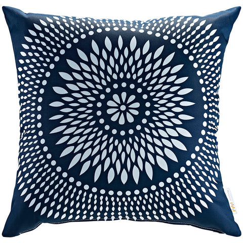 "Indoor/Outdoor 18""Sq Pillow Cartouche collection (1 Pillow)"
