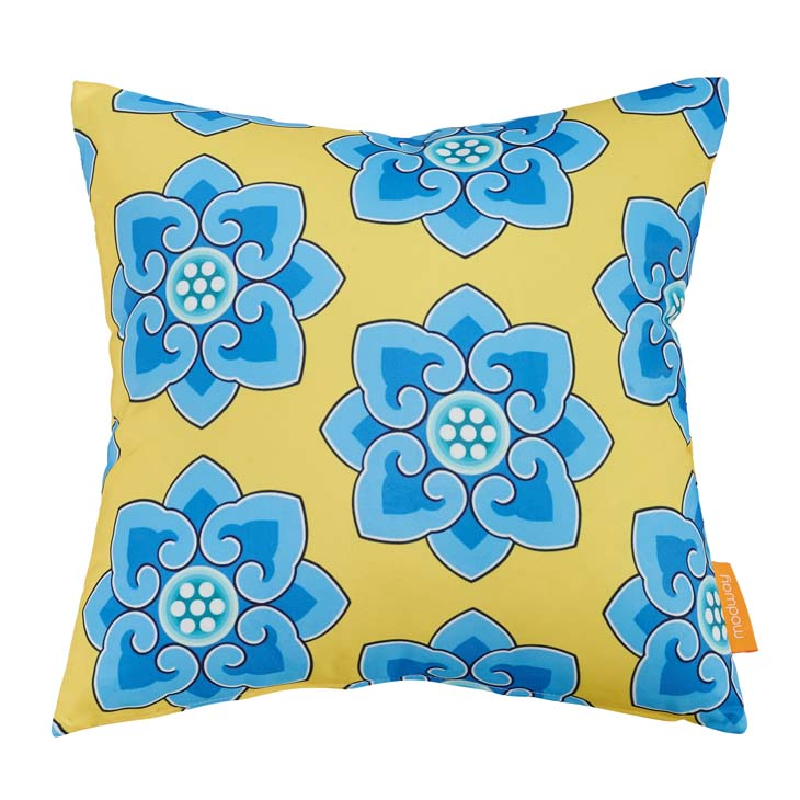 "Indoor/Outdoor 18""Sq Pillow CORNFLOWER collection (1 Pillow)"