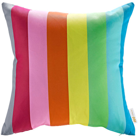 "Indoor/Outdoor 18""Sq Pillow Rainbow collection (1 Pillow)"