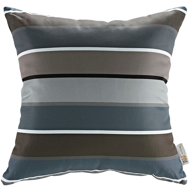 "Indoor/Outdoor 18""Sq Pillow Stripe collection (1 Pillow)"