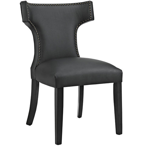 CURVE VINYL DINING CHAIR IN BLACK OR WHITE
