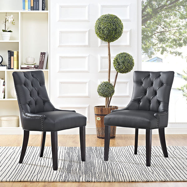 REGENT VINYL DINING CHAIR IN BLACK OR WHITE