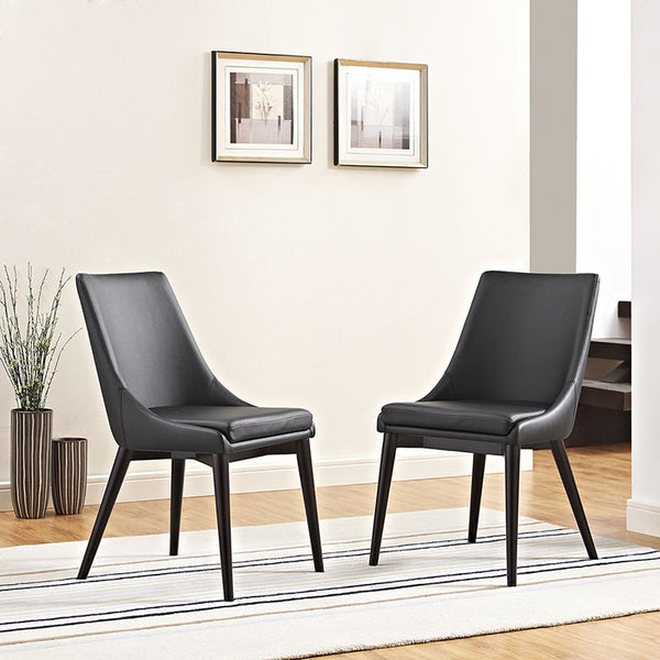 VISCOUNT VINYL DINING CHAIR IN BLACK OR WHITE COLOR