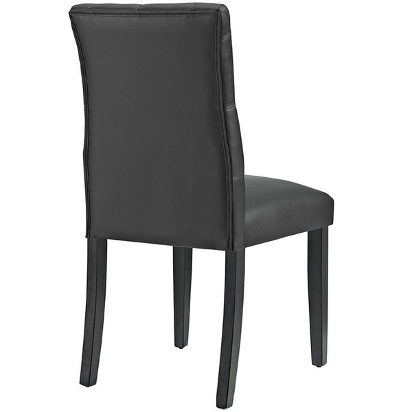 DUCHESS VINYL DINING CHAIR IN BLACK or WHITE